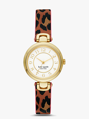 rainey park luggage/leopard-print reversible watch by kate spade new york non-hover view