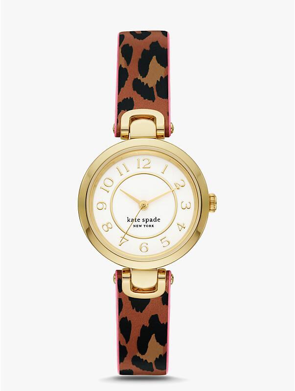 rainey park luggage & leopard-print reversible watch, , rr_large