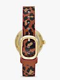 rainey park luggage & leopard-print reversible watch, , s7productThumbnail