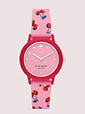 morningside scallop pink cherries silicone watch, , s7productThumbnail