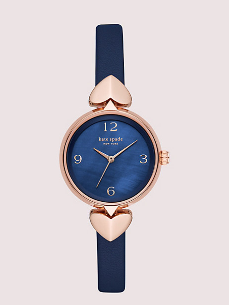 hollis leather watch by kate spade new york
