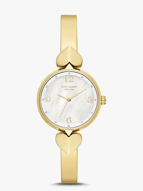 hollis gold-tone stainless steel bangle watch by kate spade new york