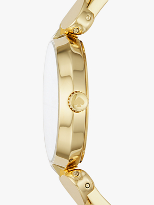 hollis gold-tone stainless steel bangle watch by kate spade new york hover view