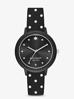 morningside black dot watch by kate spade new york non-hover view