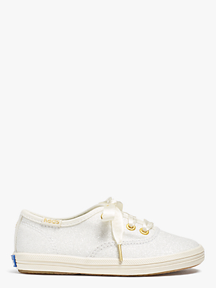 keds kids x kate spade new york champion glitter toddler sneakers  by kate spade new york non-hover view