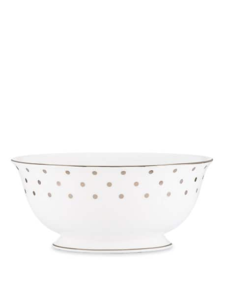 larabee road platinum serving bowl by kate spade new york
