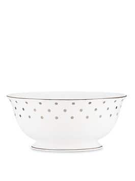 larabee road platinum serving bowl, ivory, medium