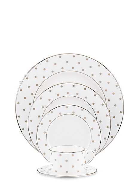 larabee road platinum five-piece place setting by kate spade new york