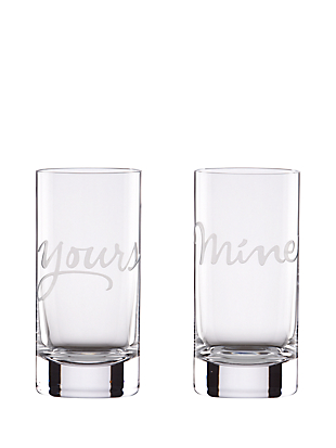 two of a kind yours and mine highball set by kate spade new york non-hover view