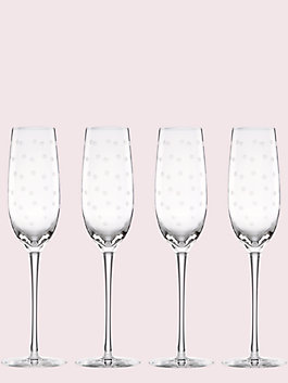 larabee dot flutes set, crystal, medium