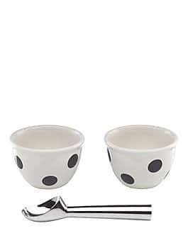 3 piece ice cream set, black/white, medium