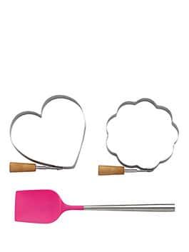 3 piece pancake set, pink, medium