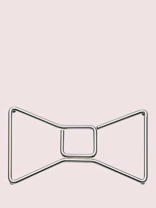 deco dot bow trivet by kate spade new york non-hover view