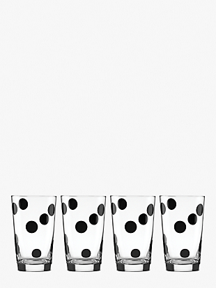 deco dot 12oz glass set by kate spade new york non-hover view