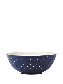 larabee dot serving bowl, navy, medium