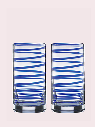 charlotte street highball glass pair by kate spade new york hover view