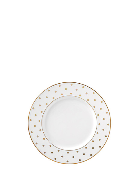 larabee road gold 9 inch accent plate by kate spade new york