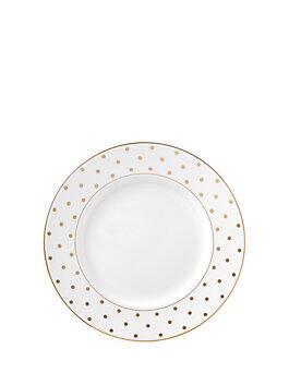 larabee road gold dinner plate, white, medium