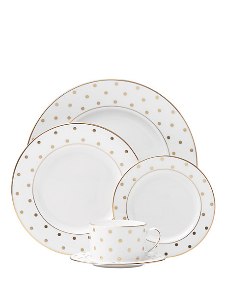 larabee road gold 5 piece place setting by kate spade new york