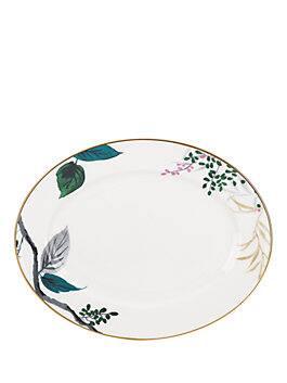 "birch way 13"" oval platter, white, medium"