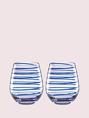 charlotte street stemless wine glass pair by kate spade new york non-hover view
