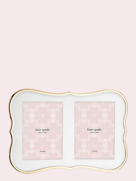 crown point gold double invitation frame by kate spade new york