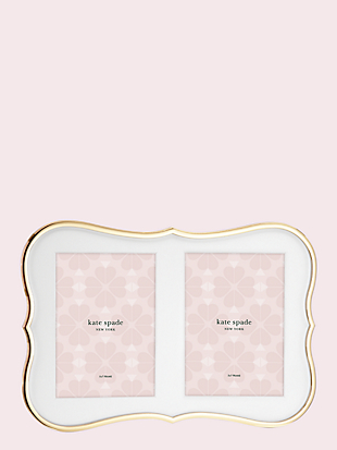 Kate spade crown point gold double invitation frame