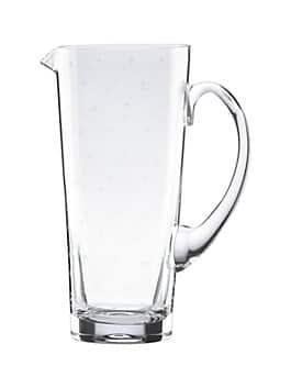 larabee dot pitcher, clear, medium