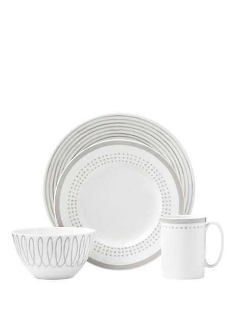 charlotte street east char grey east 4 piece place setting by kate spade new york