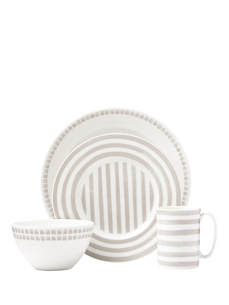 charlotte street grey north 4 piece place setting by kate spade new york