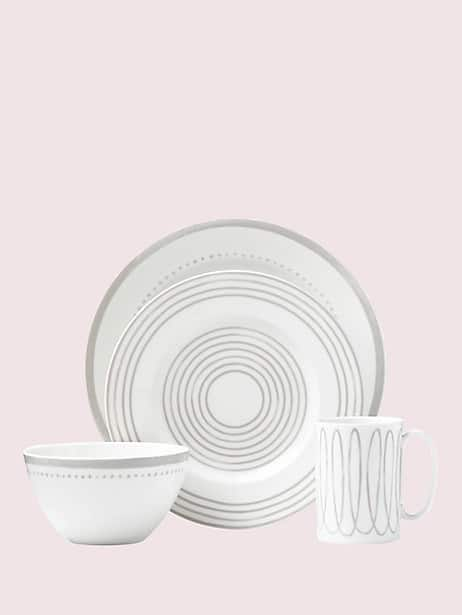 charlotte street west char grey west 4 piece place setting by kate spade new york
