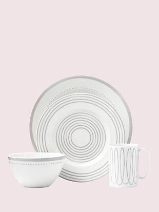 charlotte street west char grey west 4 piece place setting by kate spade new york non-hover view