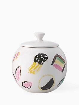 one smart cookie cookie jar, white, medium
