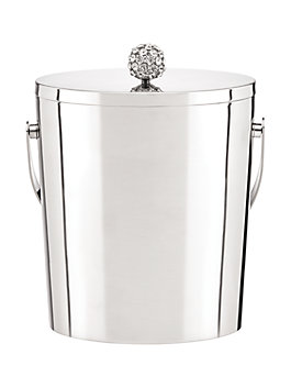 two of a kind ice bucket, silver, medium