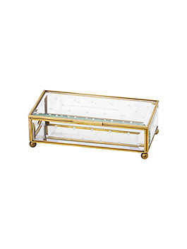out of the box jewelry box, clear, medium