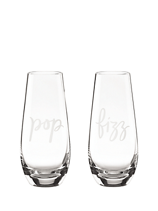 two of a kind pop/fizz stemless champagne glass pair by kate spade new york non-hover view