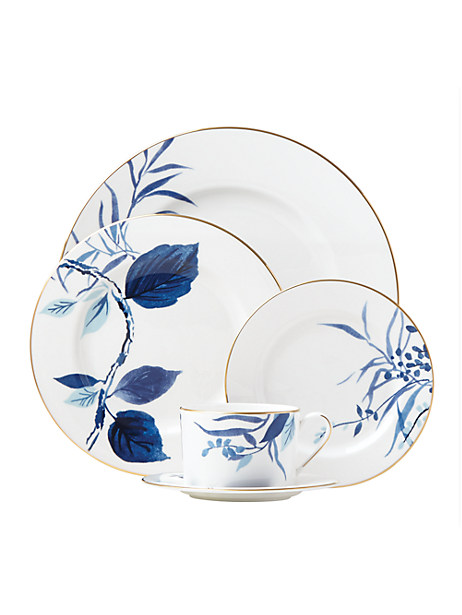 birch way navy 5 piece place setting by kate spade new york