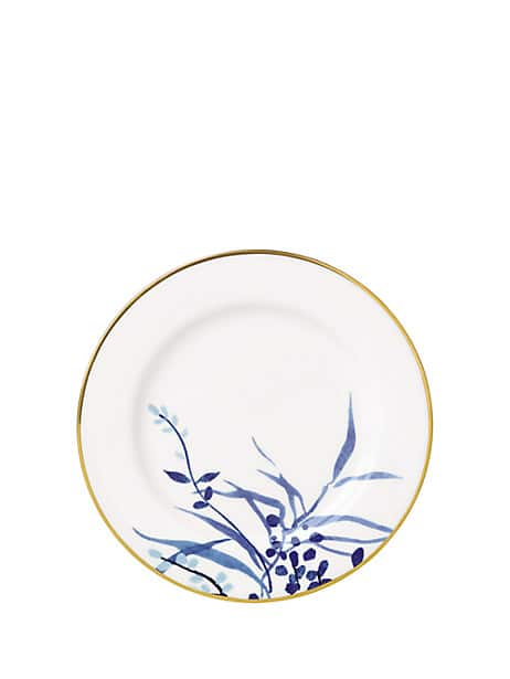 "birch way navy 9"" accent plate by kate spade new york"