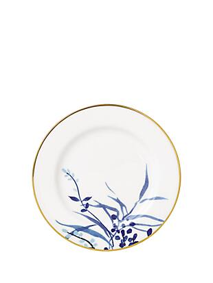 "birch way navy 9"" accent plate by kate spade new york non-hover view"