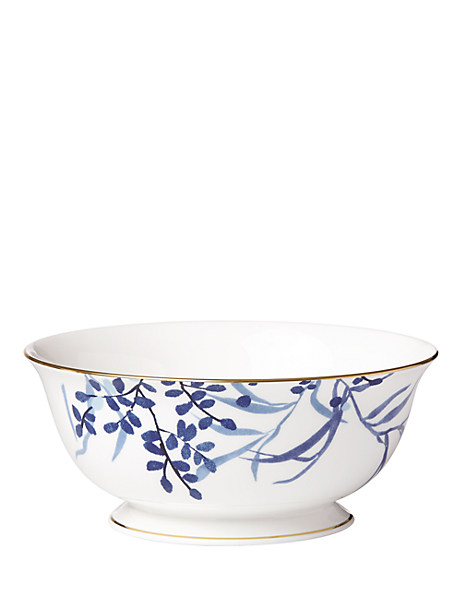 birch way navy birch navy serving bowl by kate spade new york