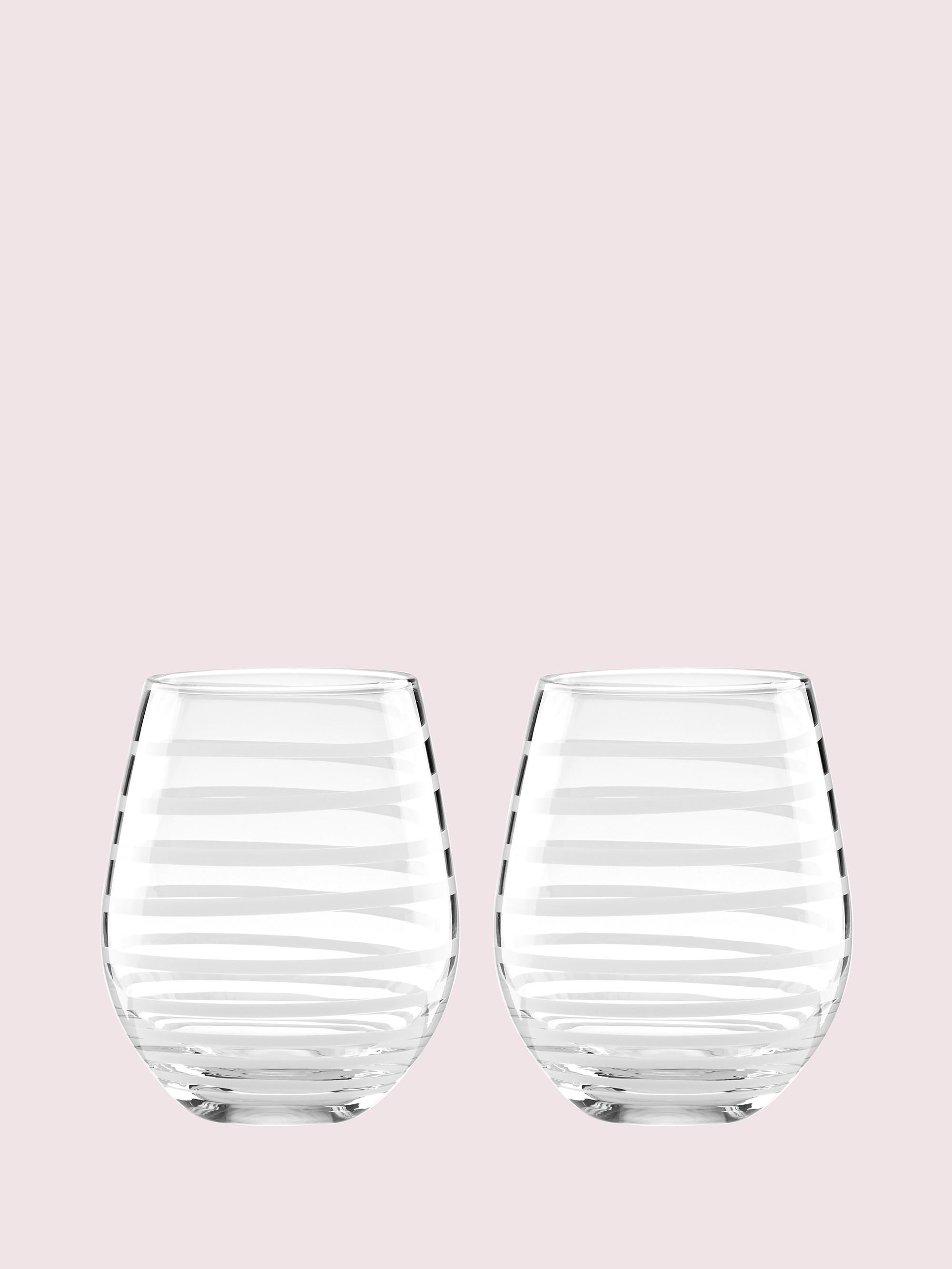 Kate spade charlotte street stemless wine glass pair