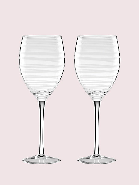 charlotte street white wine glass pair by kate spade new york