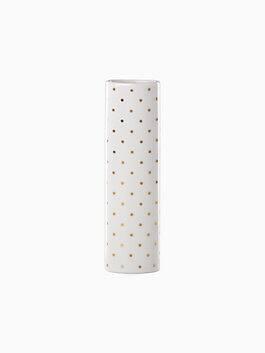 everdon lane gold pin dot bud vase, white, medium