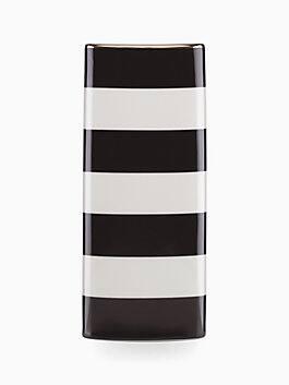everdone lane black stripe vase, Black, medium