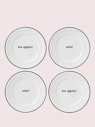 york avenue 4-piece tidbits plate set by kate spade new york non-hover view
