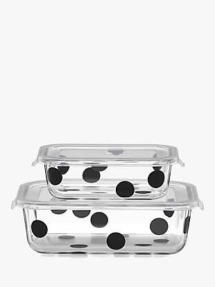 deco dot 2pc rectangular food storage containers by kate spade new york non-hover view