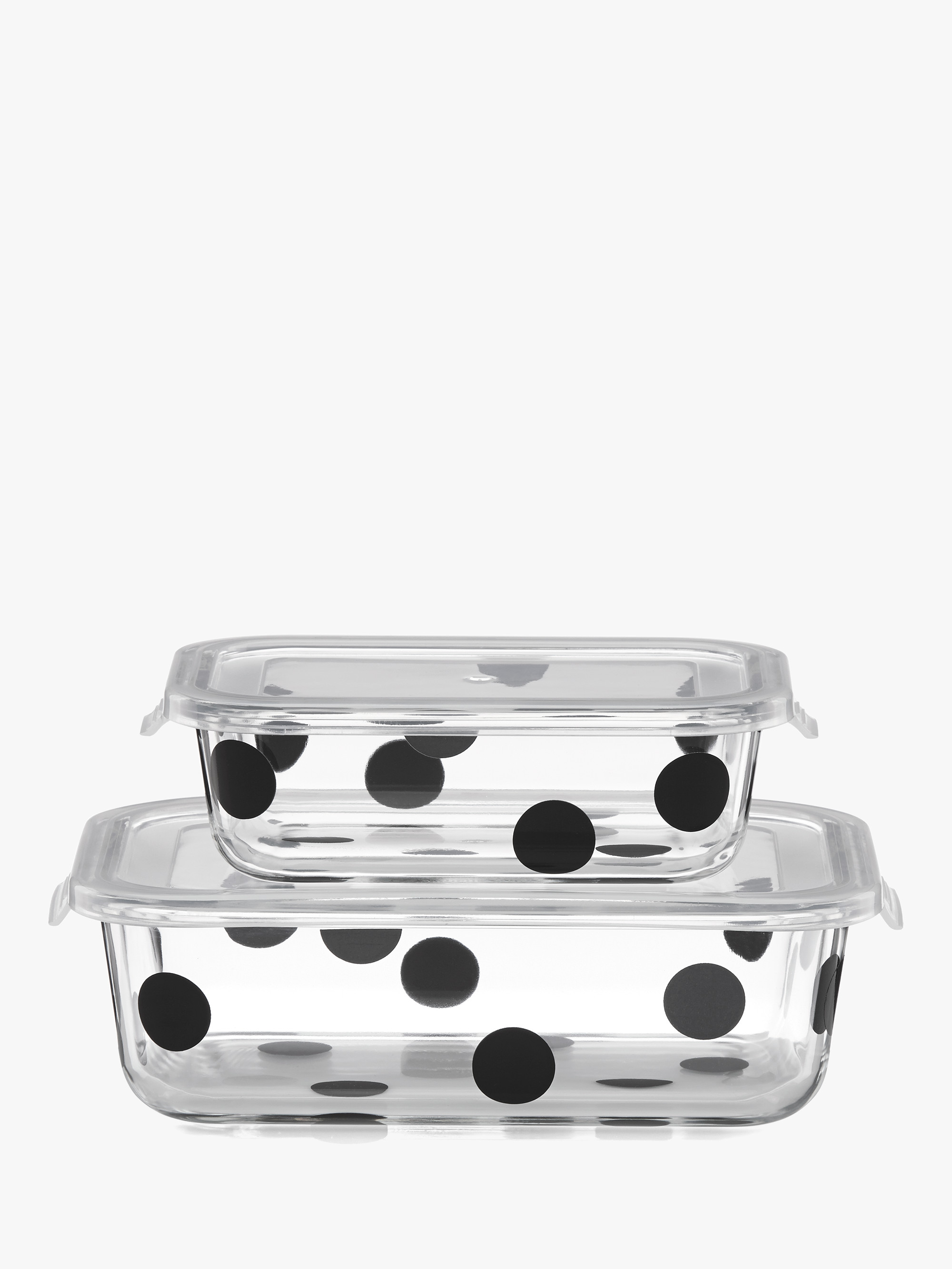 Kate spade deco dot 2pc rectangular food storage containers