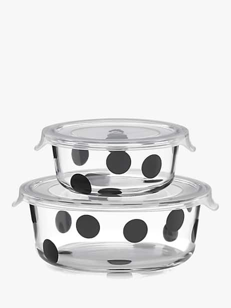 deco dot 2pc round food storage containers by kate spade new york