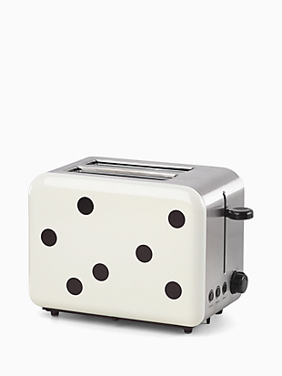 deco dot two slice toaster by kate spade new york non-hover view