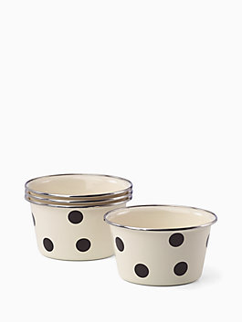 pop by 4 pc popcorn bowls, black, medium